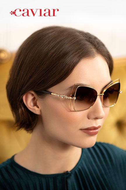 golden, earthy hues accent Caviar frames #4893