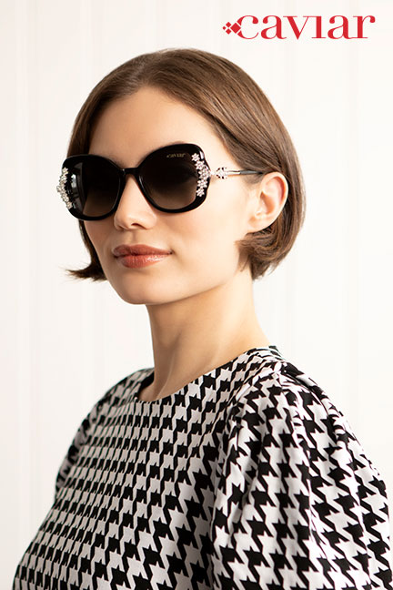 Caviar classy, bold sunglasses